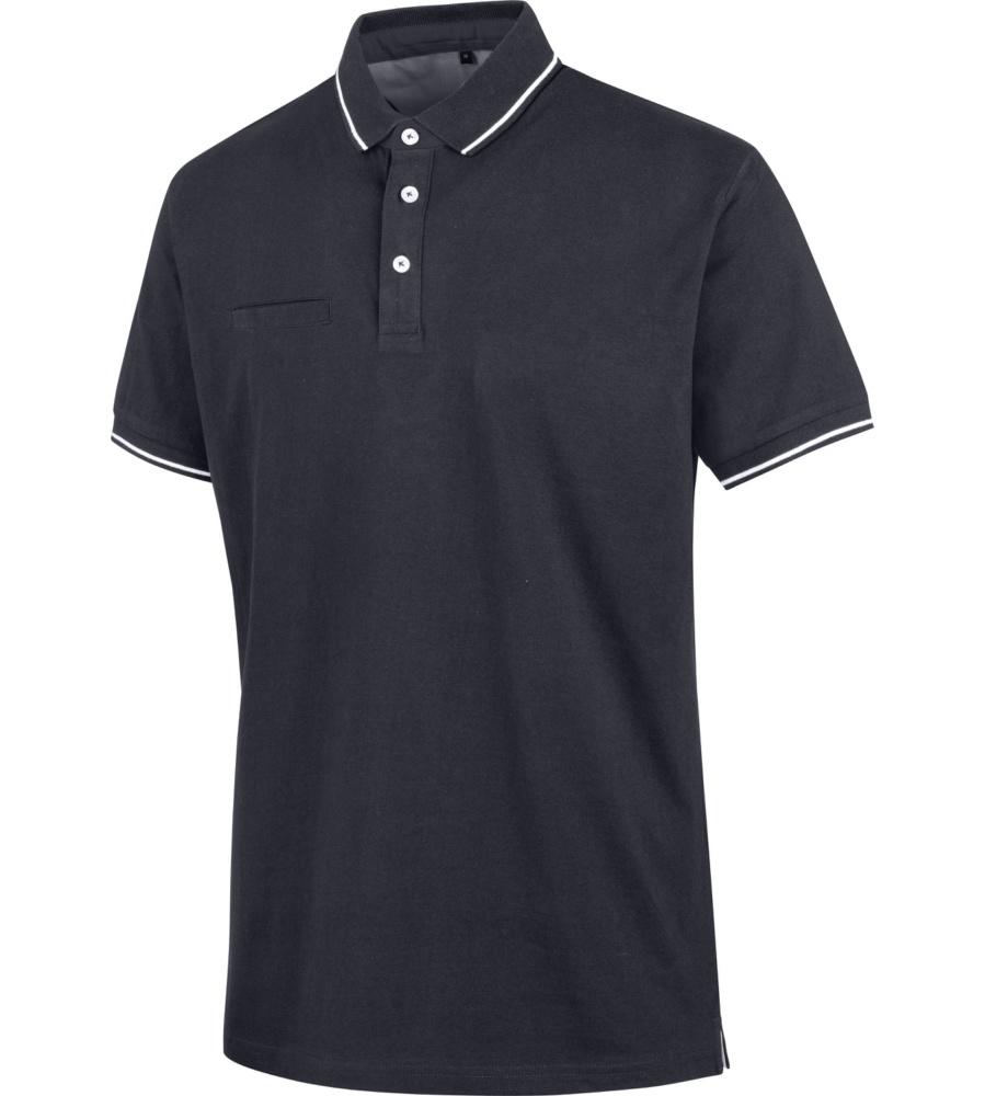 Polo Jersey blu personalizzata