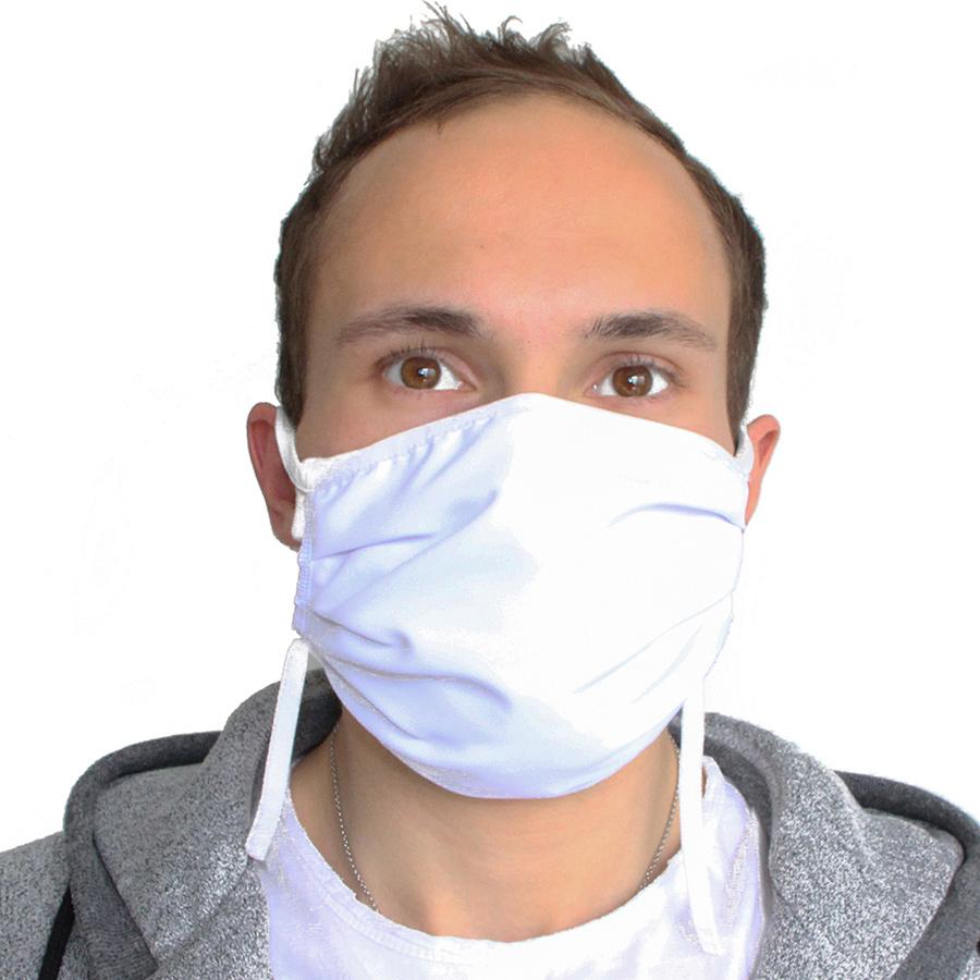 mascherina lavabile personalizzabile logo bianca
