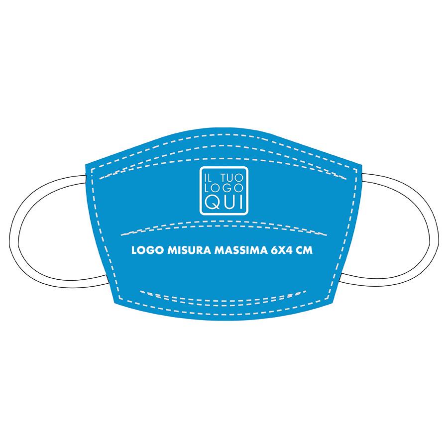 mascherina lavabile personalizzabile blu