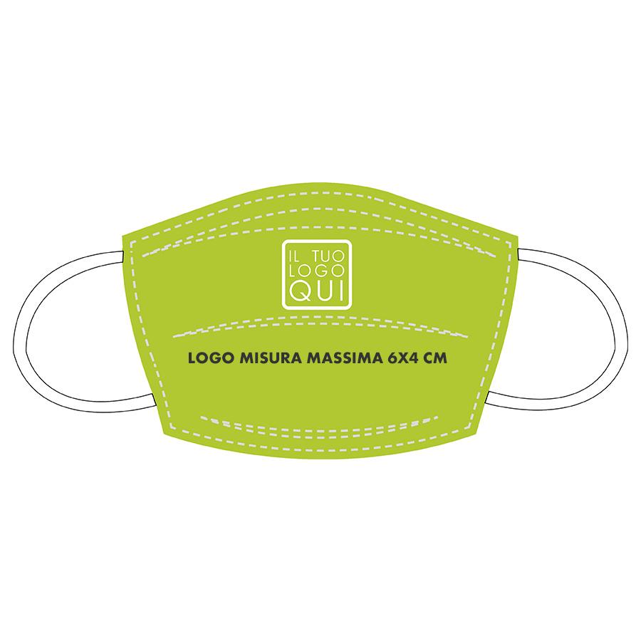 mascherina lavabile personalizzabile lime